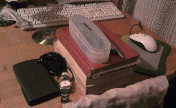 Составляющая основы планирования - организовано складывать вещи в одно место