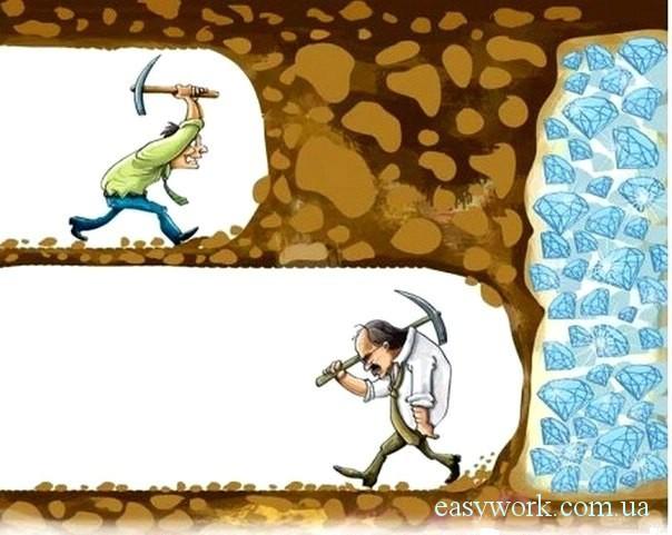 Не стоит сдаваться - возможно Вы уже близки к своей цели