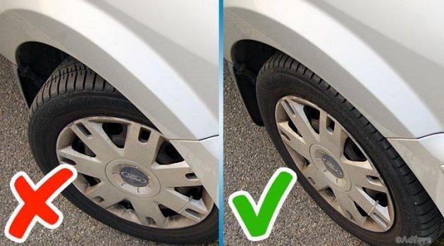 Защитное вождение предполагает не держать колеса повернутыми во время остановки