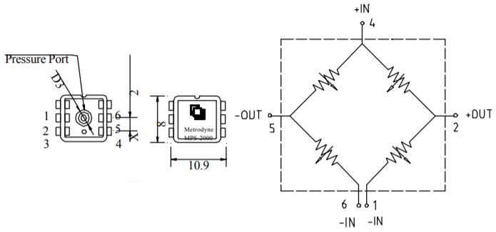 Схема датчика давления