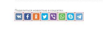 Кнопки для  расшаривания записи в социальных сетях