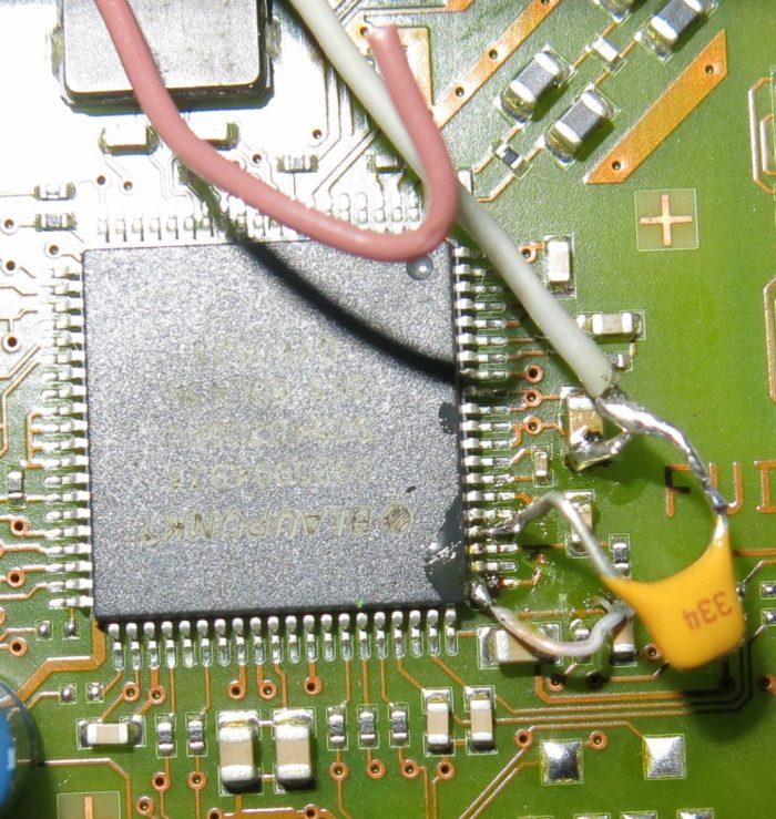 Подпайка конденсатора 0,33 мкФ