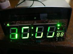 Ремонт часов LUX CX-818 (горят часть сегментов)