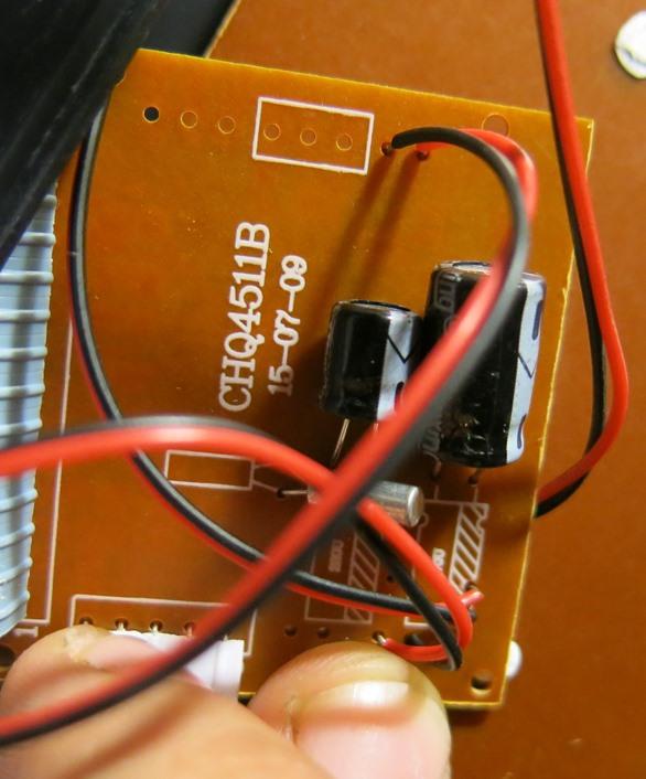 Обратная сторона платы CHQ4511B часов VST-763W