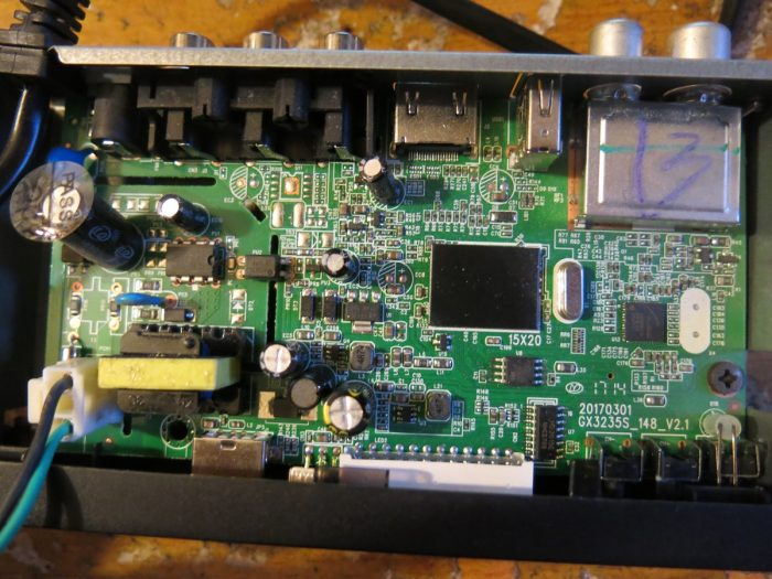 Внутреннее устройство ресивера Tiger T2 IPTV