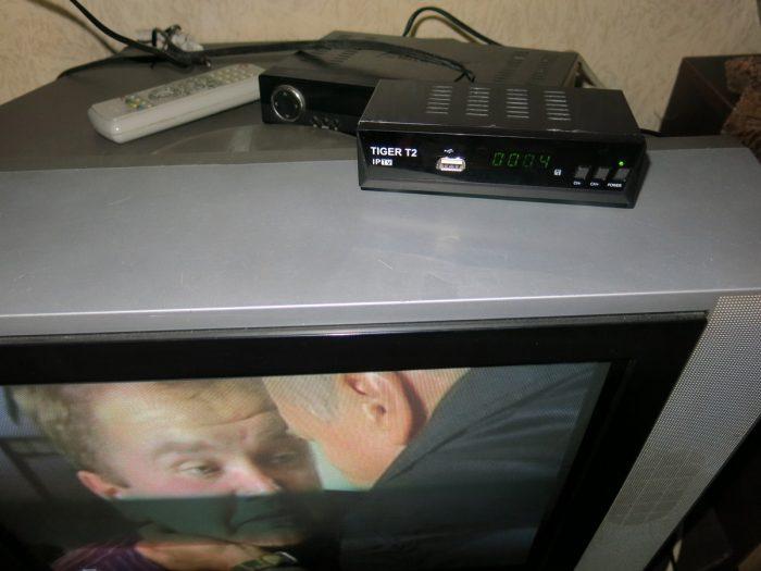 Отремонтированный DVB-T2 ресивер Tiger T2 IPTV