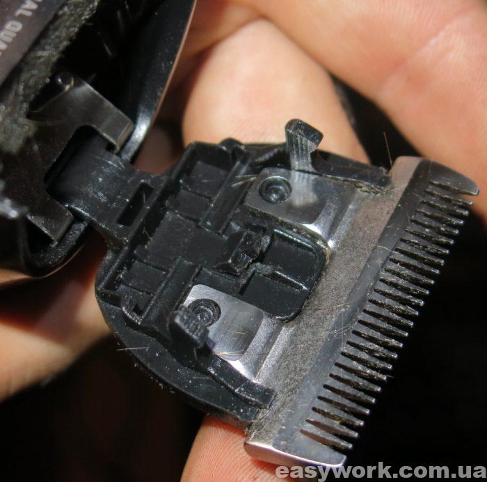 Сломанный фиксатор машинки для стрижки
