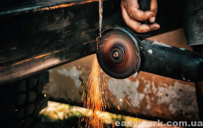 Угловая шлифовальная машина (болгарка), меньшего размера
