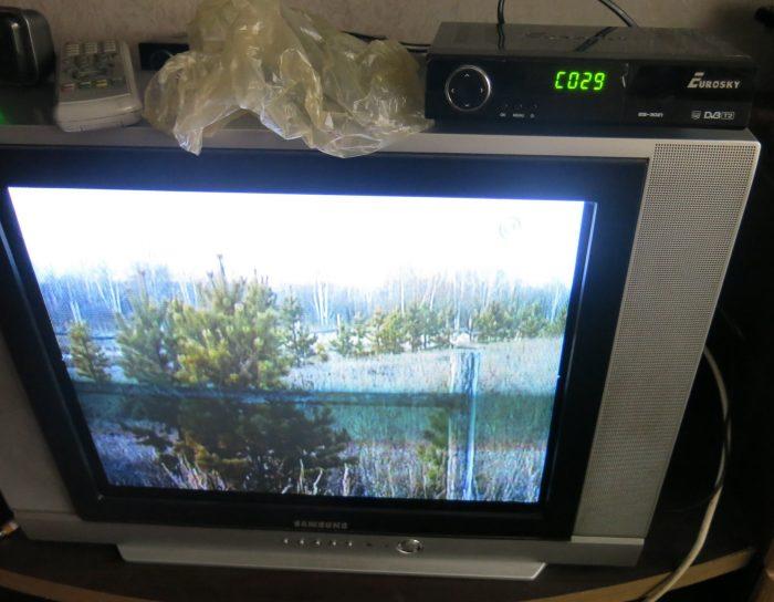 Отремонтированный ресивер DVB-Т2 Eurosky ES-3021