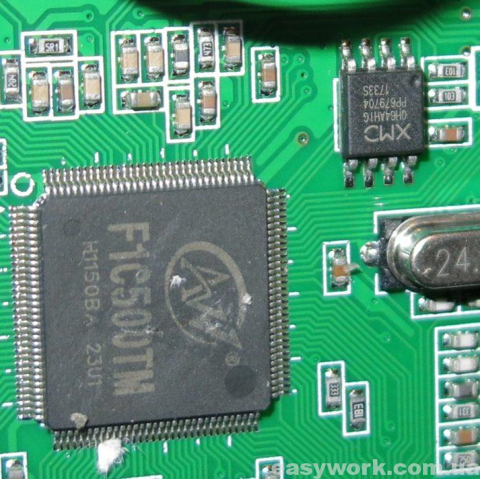Процессор F1C500TM и флеш-память QH64AH1G