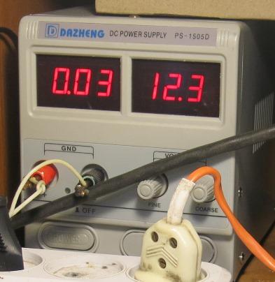 Потребление тока в неисправном режиме
