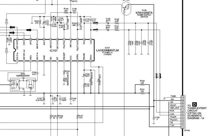 Микросхема тюнера IC101 LA1833NMNTLM