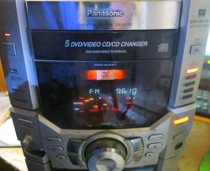 Музыкальный центр PANASONIC SA-VK70D в режиме радио