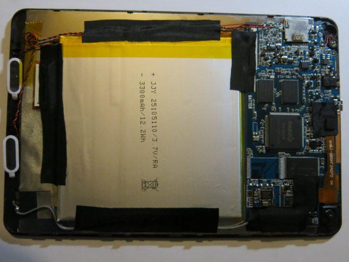 Внутреннее устройство планшета Nomi A07850