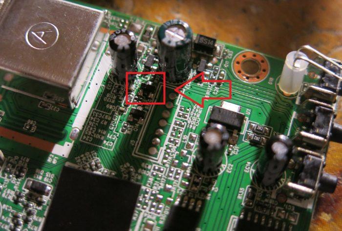 Вышедший из строя транзистор