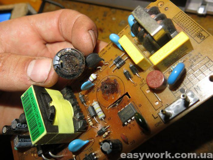 Негодная сетевая емкость конденсаторов