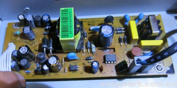Отремонтированный блок питания тюнера OPENBOX X800