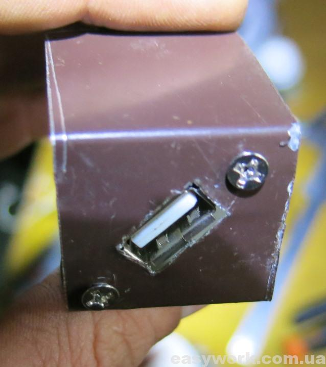 Панель USB зарядки из профнастила