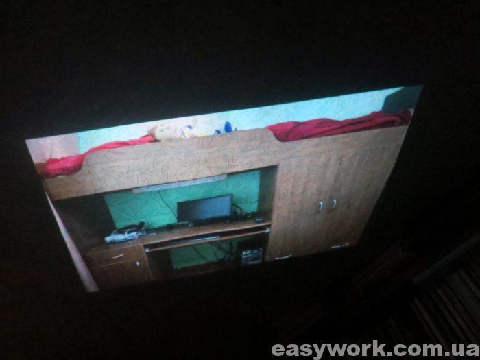 Проецирование изображения на потолок