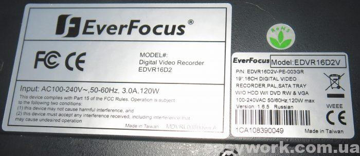 Характеристики видеорегистратора Ever Focus EDVR16D2