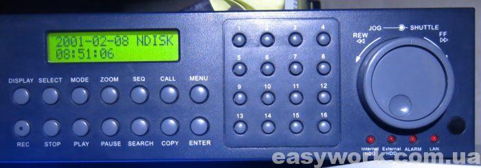 Лицевая панель видеорегистратора Ever Focus EDVR16D2