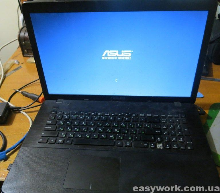 Ноутбук ASUS X751M с замененной термопастой