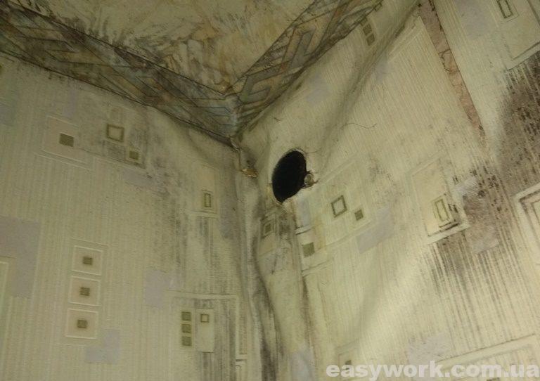 Исходное вентиляционное отверстие (изнутри)