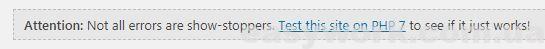 Результат проверки сайта плагином PHP Compatibility Checker