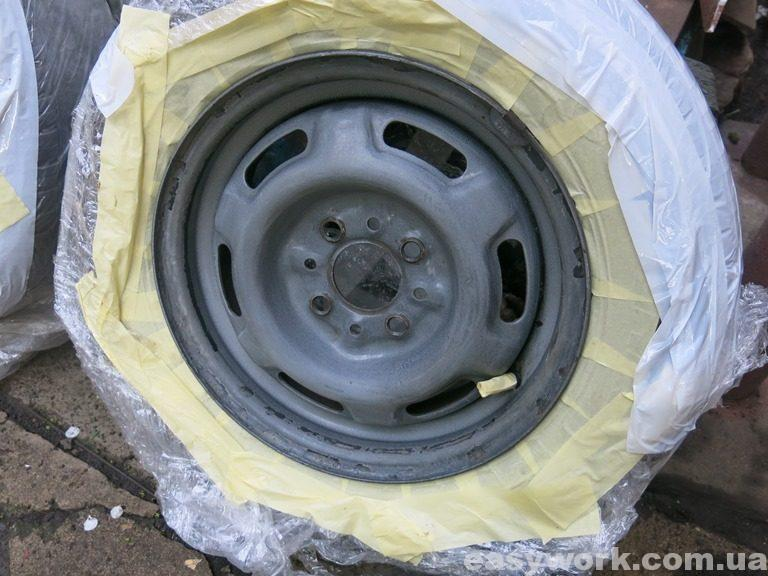 Проклейка дисков молярным скотчем