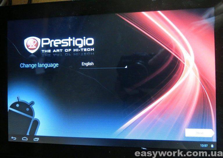 Первый запуск планшета Prestigio PMP5101C_QUAD
