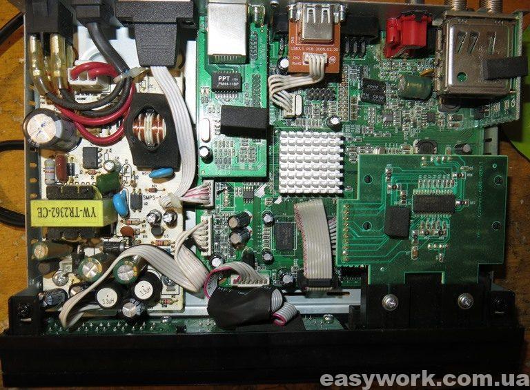 Внутреннее устройство тюнера GI S8120
