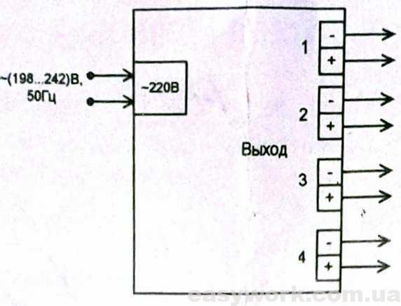 Схема внешних соединений МТМ101-4