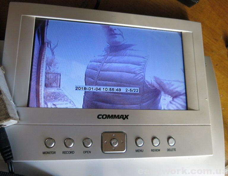 Сохраненные снимки домофона COMMAX CDV-72BE