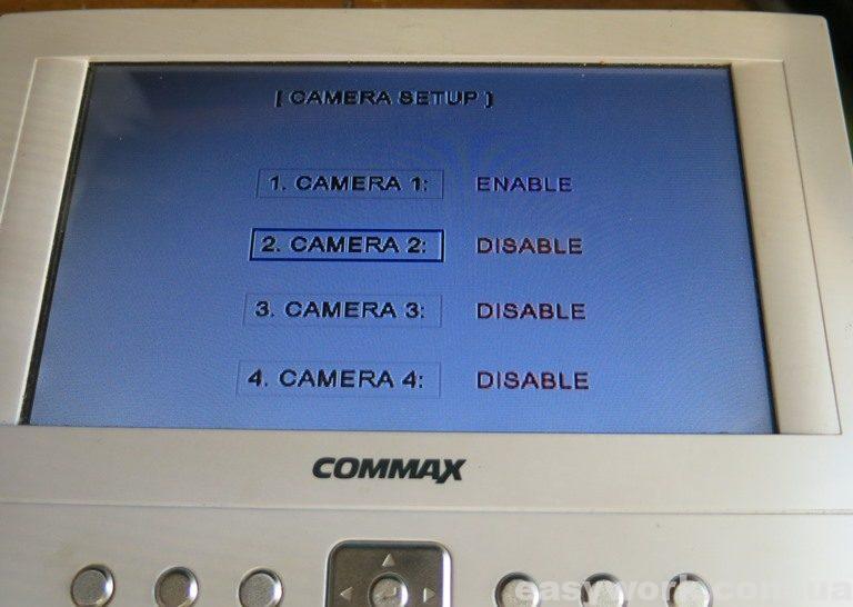 Настройки включенных видеокамер