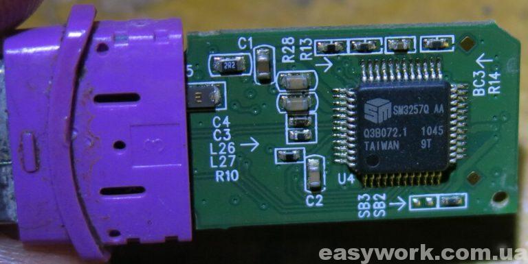 Контроллер флешки JetFlash 300 TS16GJF300