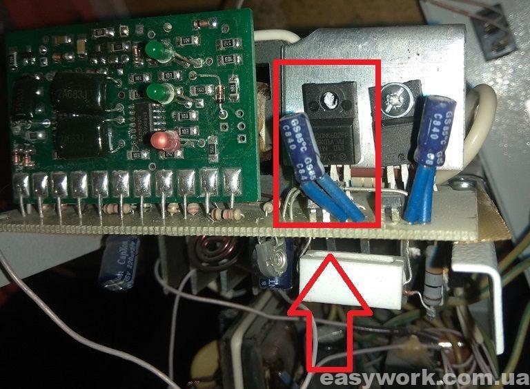 Вышедший из строя полевой транзистор
