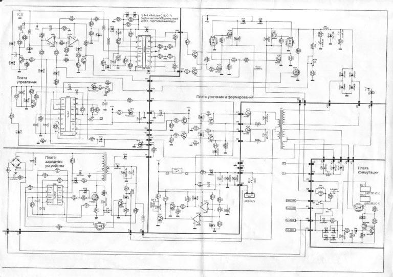Принципиальная схема ИБП Леотон-500