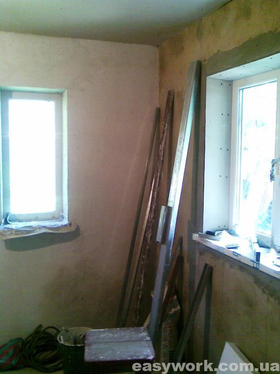 Шпаклевка стен на кухне (фото 1)