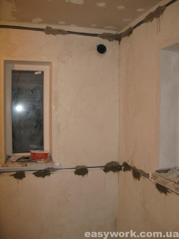 Прокладка электропроводки на кухне (фото 5)