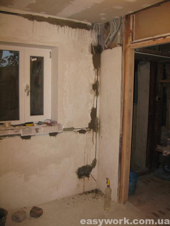 Прокладка электропроводки на кухне (фото 6)