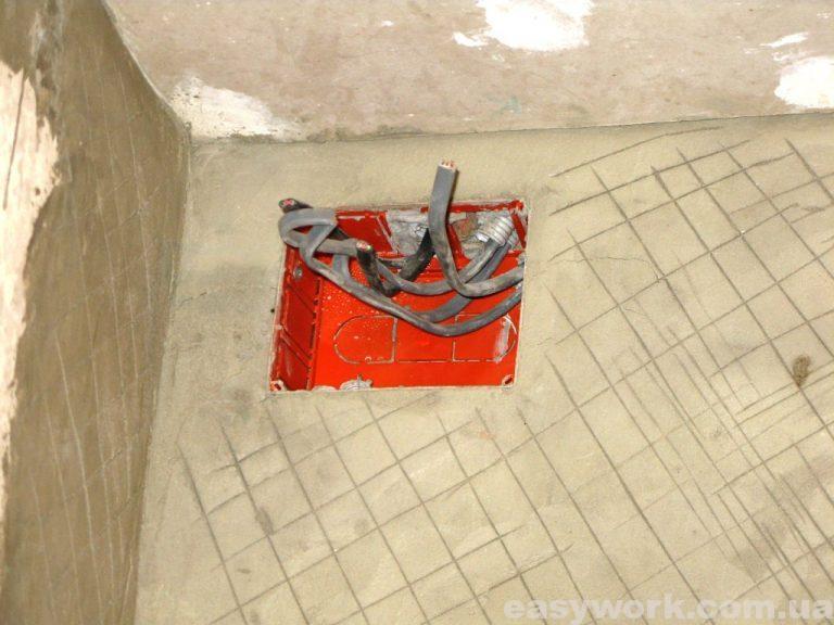 Установка электрической распределительной коробки (как стало)