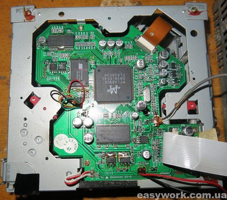 Плата привода магнитолы Roadstar CD-943DVD