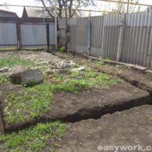 Строительство гаража (часть 1, копка фундамента)
