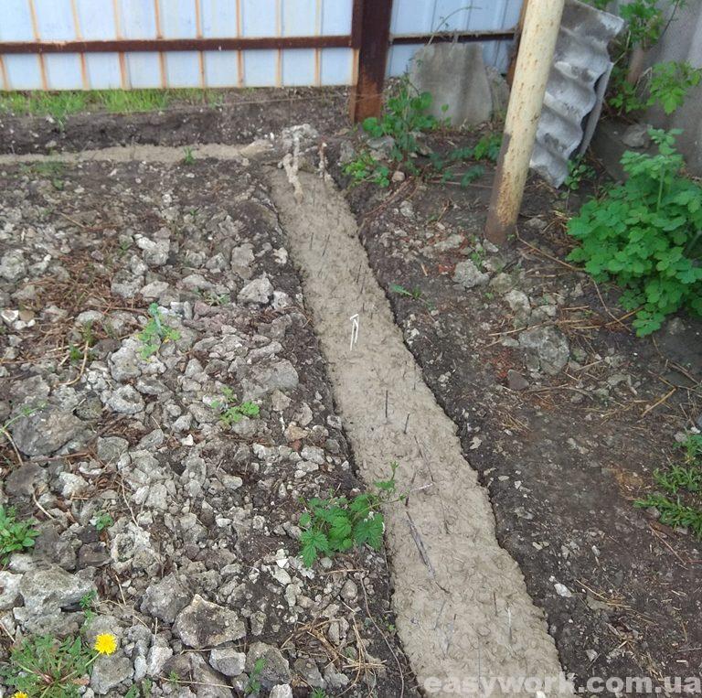 Залитый бетон до цоколя