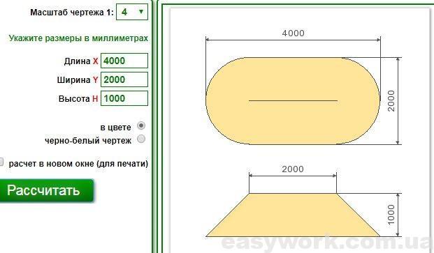Онлайн калькулятор объема сыпучих в куче