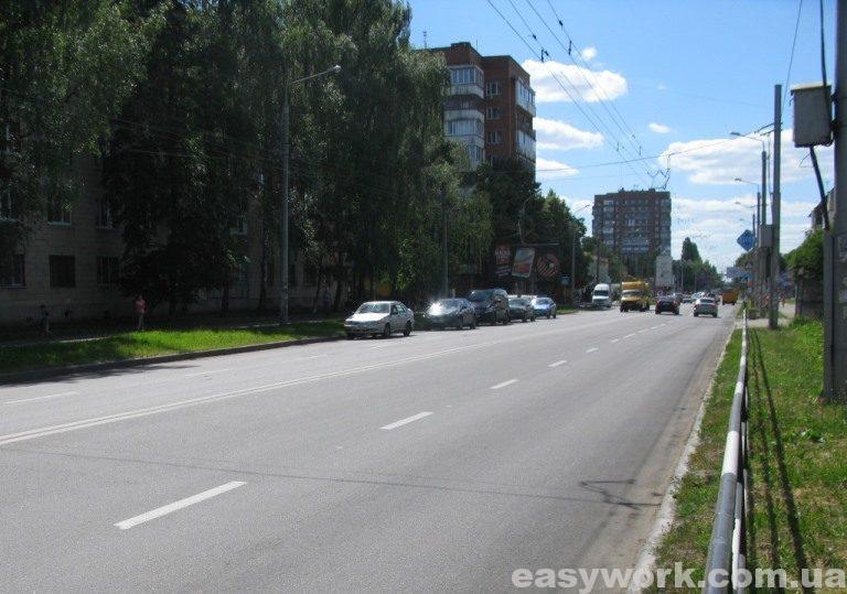 Улица Ивана Мазепы (вид в сторону автовокзала) г. Полтава