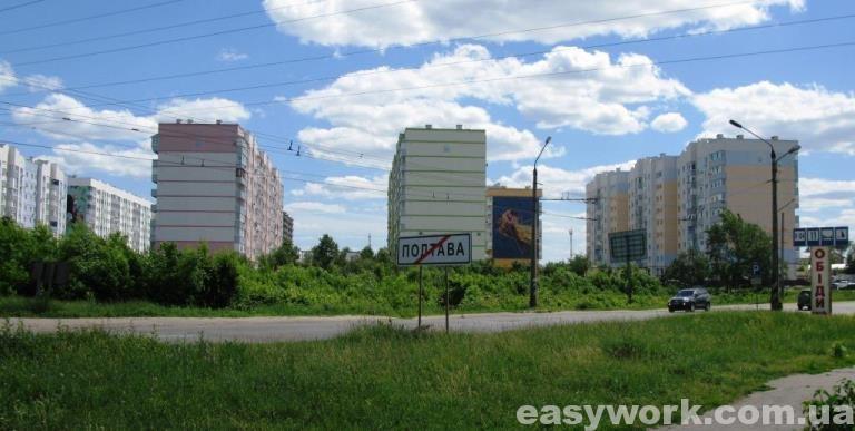 Новая застройка микрорайона Садовый (г. Полтава)