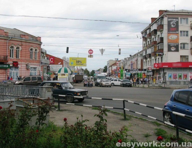 Пересечение улиц Шевченко и Европейской (г. Полтава)
