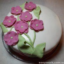 Мастичный торт с нуля. Подробный рецепт с фото