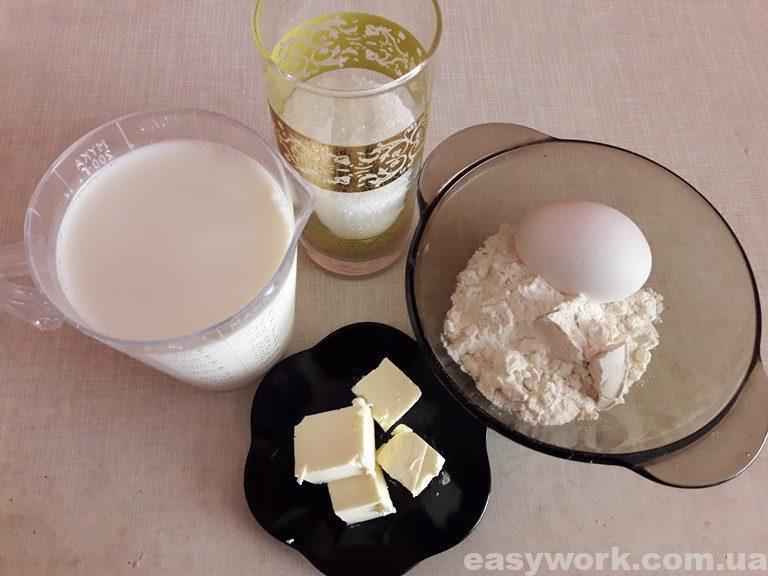 Ингредиенты для приготовления заварного крема